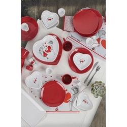 Keramika 35 Parça 6 Kişilik Kahvaltı Takımı - Dolu Kalp
