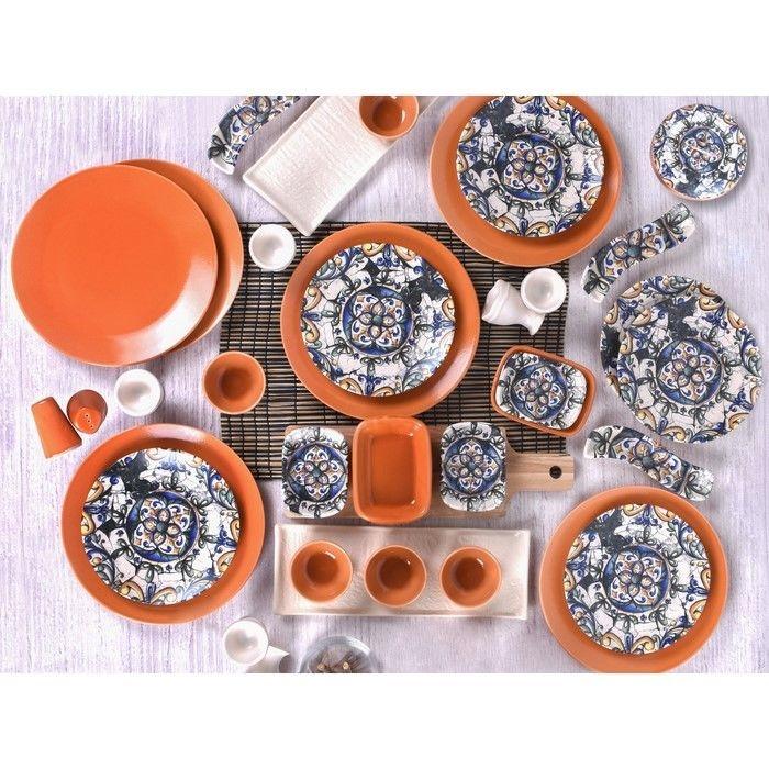 Keramika 6 Kişilik 40 Parça İspanyol Kahvaltı Seti
