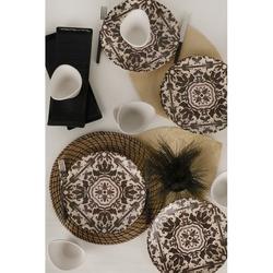 Keramika 14 Parça 6 Kişilik Kahvaltı Takımı - Anev Siyah