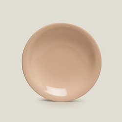 Keramika Ege 1 Parça Çukur Tabak - Pudra / 22 cm