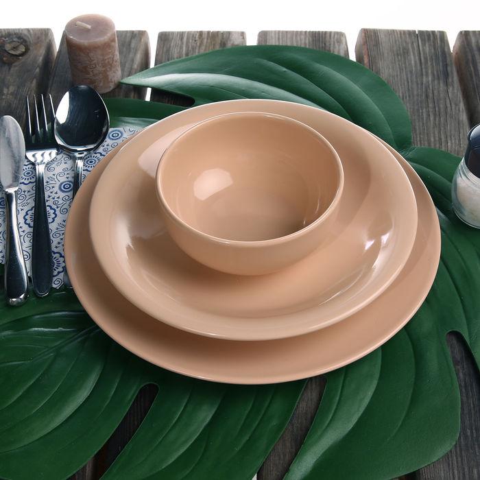 Resim  Keramika Bulut- Ege 24 Parça Yemek Takımı - Pudra