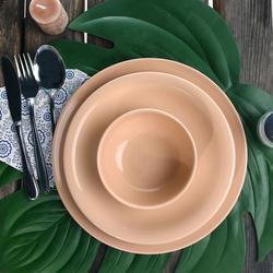 Keramika Bulut- Ege 24 Parça Yemek Takımı - Pudra