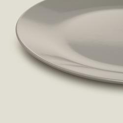 Keramika Ege 1 Parça Servis Tabağı - Gri / 26 cm