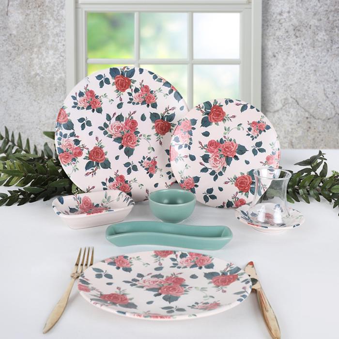 Keramika Gül Bahçesi 4 Kişilik Kahvaltı Takımı - 19 Parça