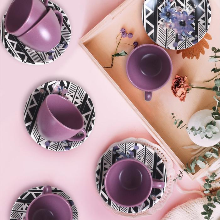 Keramika Çiçek 12 Parça Çay Seti