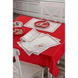 Keramika 322091 Masa Örtüsü (Kırmızı) - 140x140 cm