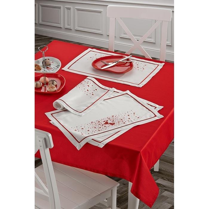 Resim  Keramika 322091 Masa Örtüsü (Kırmızı) - 140x140 cm