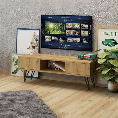 Resim  Fly Mobilya Tv Sehpası - Safir Meşe