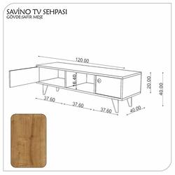 Fly Mobilya Tv Sehpası - Safir Meşe