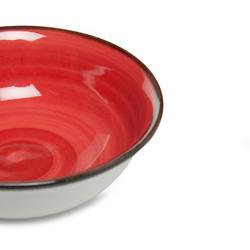 Tulu Porselen 1 Parça Klasik Kase - Kırmızı / 14 cm
