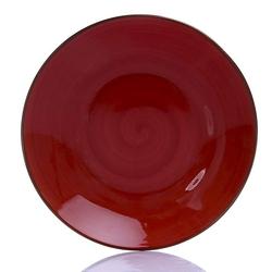 Tulu Porselen 1 Parça Çukur Tabak - Trend Kırmızı / 19 cm