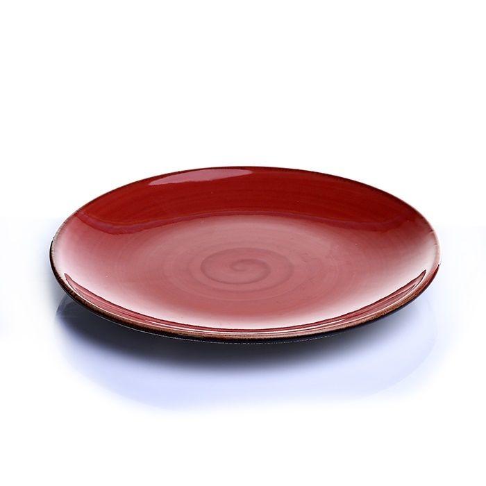 Resim  Tulu Porselen 1 Parça Servis Tabağı - Trend Kırmızı / 24 cm