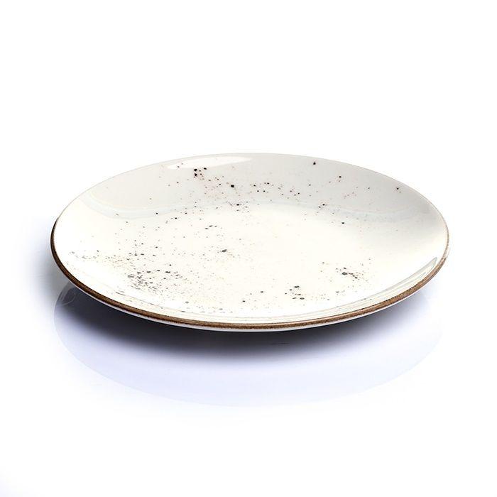 Resim  Tulu Porselen 1 Parça Servis Tabağı - Reactive Krem / 24 cm