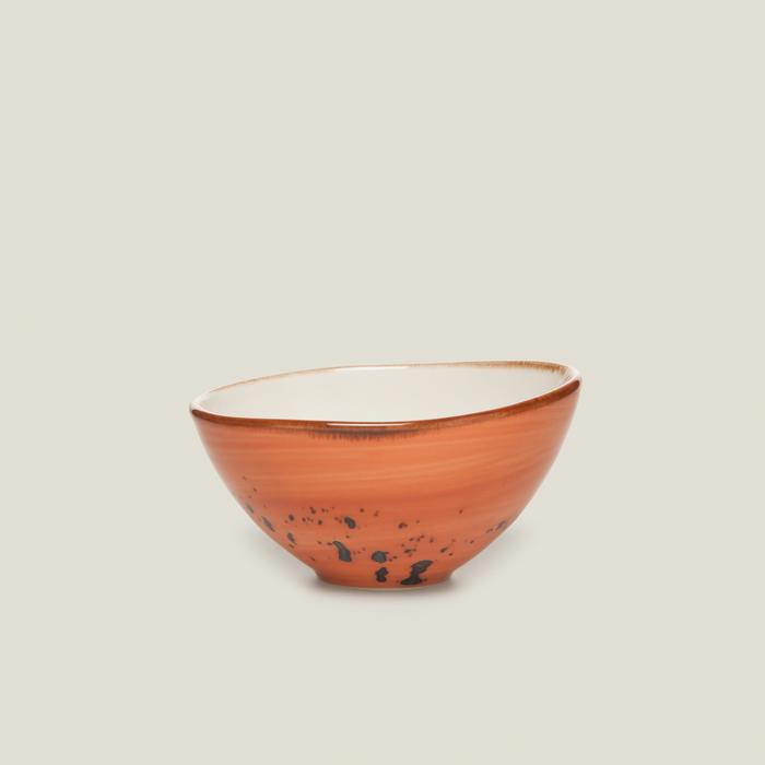 Tulu Porselen Pol10 Kase - Turuncu / 10 cm