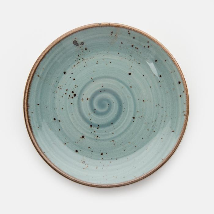 Resim  Tulu Porselen 1 Parça Tatlı ve Pasta Tabağı - Turkuaz / 15 cm