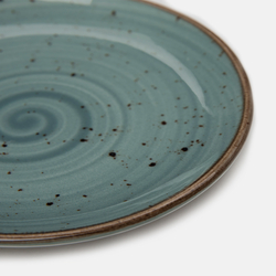 Tulu Porselen 1 Parça Tatlı ve Pasta Tabağı - Turkuaz / 15 cm
