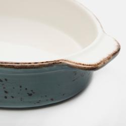Tulû Porselen Oval Fırın Kabı - Turkuaz / 21 cm