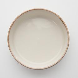 Tulu Porselen Oval Fırın Kabı - Krem / 13 cm