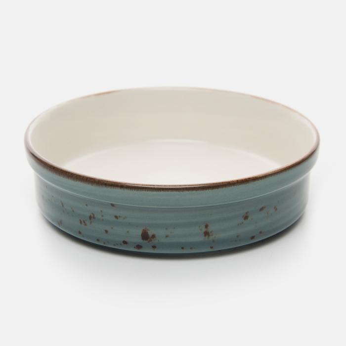 Resim  Tulu Porselen Oval Fırın Kabı - Turkuaz / 13 cm