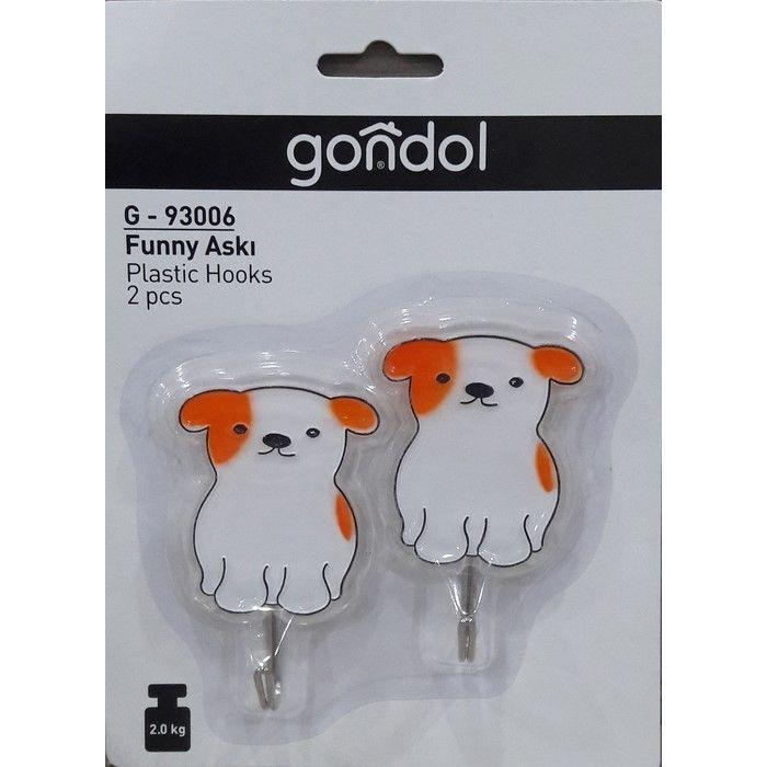 Resim  Gondol Plastik g-93006 2'li Funny Askı