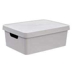 Gondol Plastik Kapaklı Saklama Kutusu (11 Litre) - Asorti