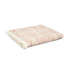 Linnea Stripe Jakarlı Throw Battaniye (Kiremit) - 130x170 cm