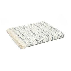 Linnea Stripe Jakarlı Throw Battaniye (Lacivert) - 130x170 cm