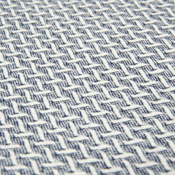 Linnea Plus Jakarlı Throw Battaniye (Lacivert) - 130x170 cm