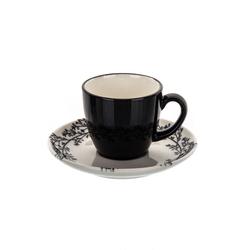 Marianna Lina 12 Parça Kahve Fincan Seti - Siyah