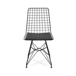 Akın Lüks Tel Sandalye - Siyah