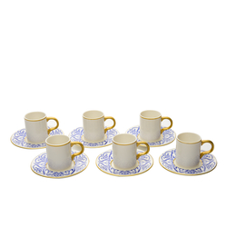 Güral Porselen Atina 12 Parça Kahve Fincanı Seti