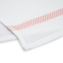 Linnea Pique Tekli Mutfak Havlusu (Beyaz / Soft Pembe) - 50x70 cm