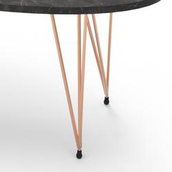 Just Home Casual Orta Sehpa (Siyah/Bakır) - 90x45 cm