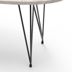 Just Home Casual Orta Sehpa (Siyah / Beyaz) - 90x45 cm