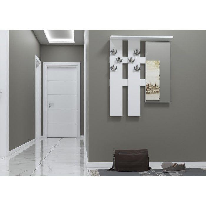 Just Home Antre Aynalı Askılık - Beyaz