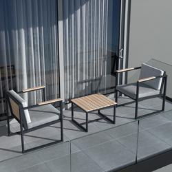 Just Home Velli Dış Mekan ve Balkon Oturma Takımı - Antrasit