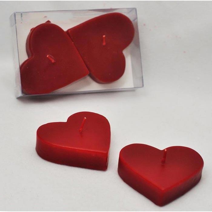 Horizon 2'li Kalp Mum - Kırmızı