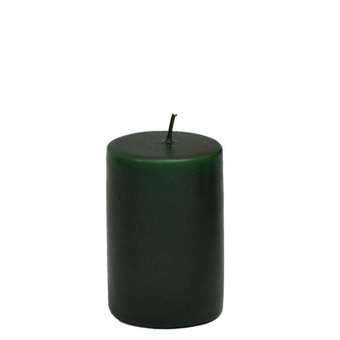 Resim  Horizon Silindir Mum (Yeşil) - 6x6 cm