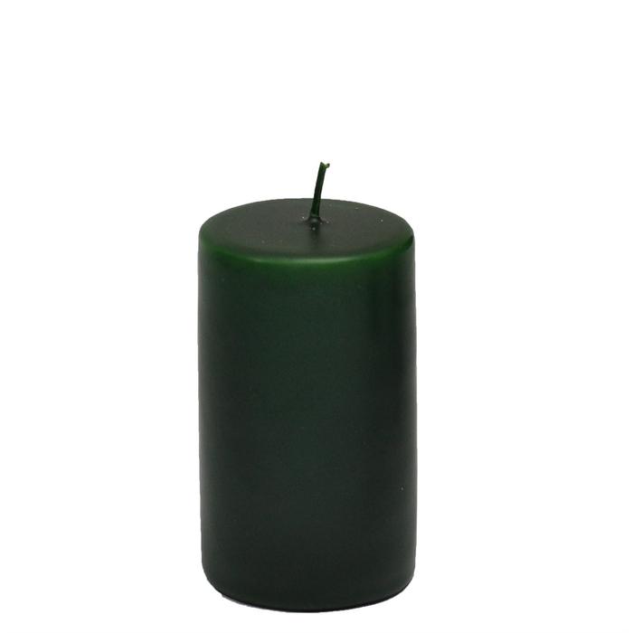 Resim  Horizon Silindir Mum (Yeşil) - 6x8 cm