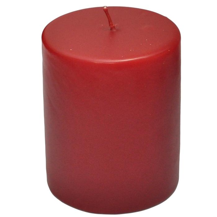 Resim  Horizon Silindir Mum (Kırmızı) - 6x10 cm