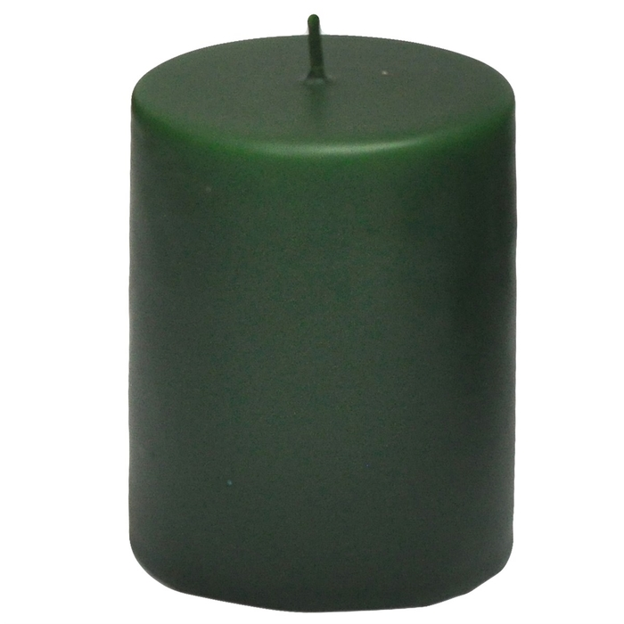 Resim  Horizon Silindir Mum (Yeşil) - 7x6 cm