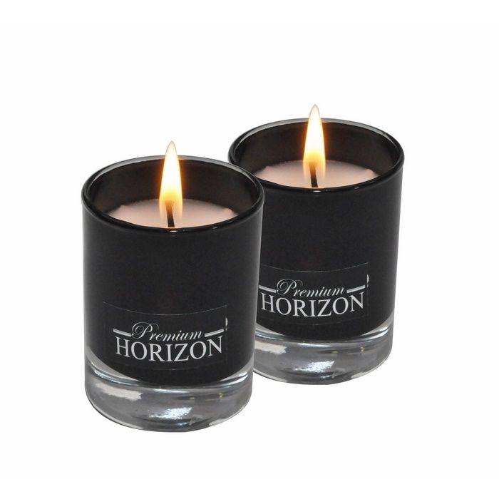 Resim  Horizon 2'li Bardak Silindir Mum (Siyah) - 4,5x6 cm