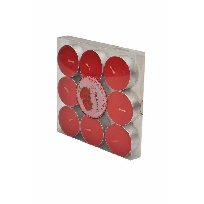 Resim  Horizon 9'lu Tealight Mum - Kırmızı