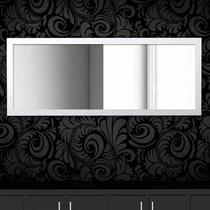 Resim  Simple Living Çerçeveli Boy Aynası (Beyaz) - 100x40 cm
