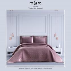 Ro&Ro Çift Kişilik Yatak Örtüsü Takımı - Mürdüm