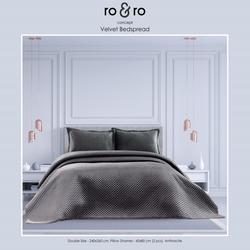 Ro&Ro Çift Kişilik Yatak Örtüsü Takımı - Antrasit