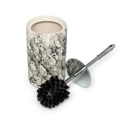 İpek 5'li Çakıltaşı Seramik Mermer Desen Banyo Seti - Gri