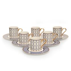 İpek 12 Parça Kahve Fincanı  - Mavi (48500)