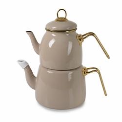 İpek Emaye Çaydanlık - Bej / 2.5 lt (Smy061)