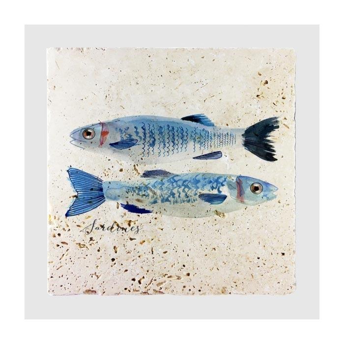 Resim  Jojo Tasarım JJDK-009 Sardines Duvar Panosu - 20x20 cm